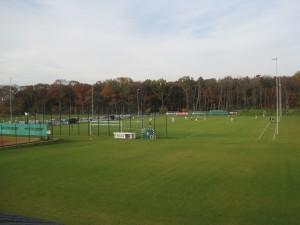 Fußballplatz mit Trainingsgelände
