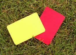 Gelb Rote Karte Sperre